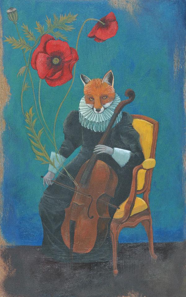 Renarde au violoncelle, 2014