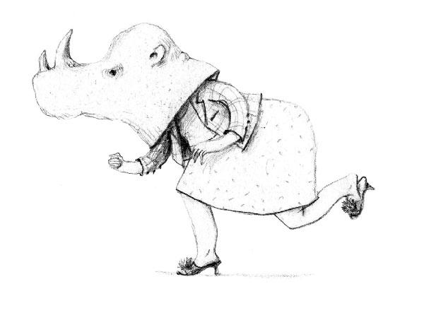 Rhinocéros, série Les Masqués, 2017-2018